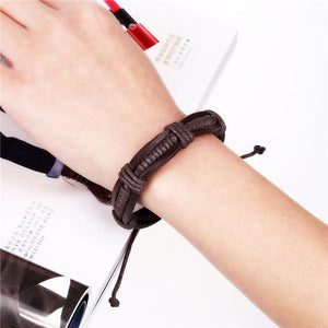 Bangle bracelet leather bracelet woven bracelet women man bracelet - The Rogue's Clothes