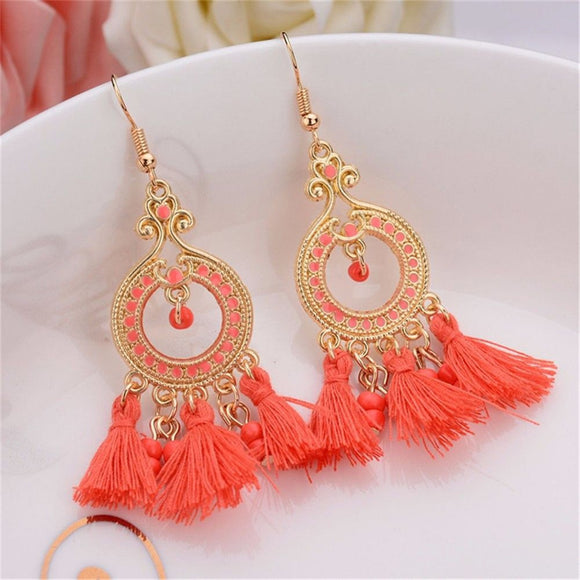 Bohemian Style Diamond Tassel Earrings - The Rogue's Clothes