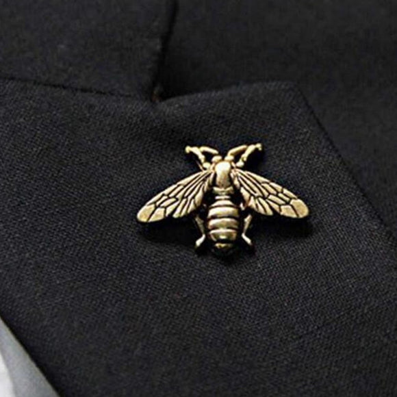 1 piece exquisite retro three-dimensional metal cute insect brooch jewelry wholesale suitable for men and women