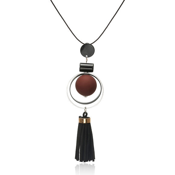 Women Necklace Long Necklaces & Pendants Wood Beads Winter Sweater Necklace For Women Fashion European Jewelry