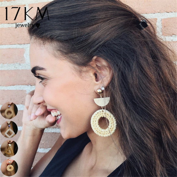 6 Design Bohemian Weave Oversize Chandelier Earrings For Women Girl Brincos Big Earring Handmade Statement Jewelry 2018 New - The Rogue's Clothes