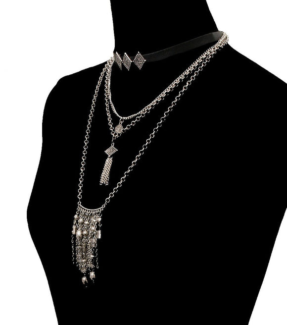 Bohemian Choker Set Color-Black - The Rogue's Clothes