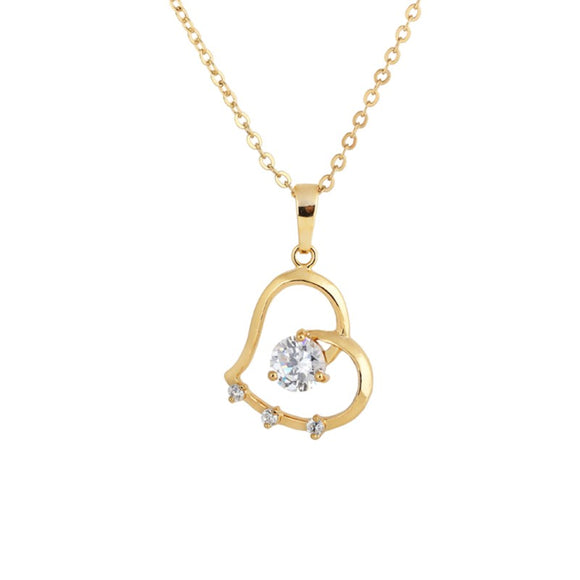 Romantic Pendant Necklace Women Jewelry Zircon Crystal Necklace Statement Jewelry (D0480)