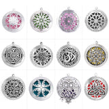 Hollow Photo Family Lotus Antique Vintage Aromatherapy Essential Oil Diffuser Locket Celtic Pendant For DIY Jewelry Necklace