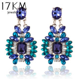 17KM New Summer Bohemian Colorful Big Drop Earrings Fashion Accessories Crystal Dangle Earrings Jewelry Women Gift - The Rogue's Clothes