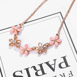 SUKI I Love You Bohemian Cute Candy Flower Charms Necklace Link Chain Gold Choker Female Jewelry For Summer Best Friend Gift