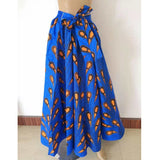 spring autumn winter african lady skirt for women long skirts dashiki print bazin riche  africanclothing robe femme Plus Size