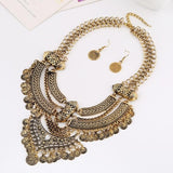 2019 New Gypsy Vintage Maxi Jewelry Trendy Collar Ethnic Bohemian Statement Necklace Women High Quality Crystal Choker Necklaces - The Rogue's Clothes