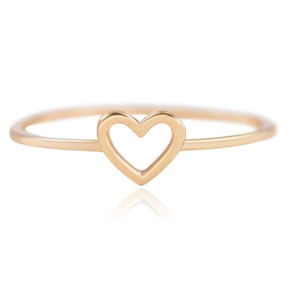 2018 New Fashion Rose Gold Color Heart Shaped Wedding Ring For Woman Dropshipping - The Rogue's Clothes