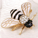 Cute Enamel Bee Brooches For Women Men Gold-Color Fly Insect Brooch Pins Scarf Dress Lapel Pin Suit Decorations Jewelry