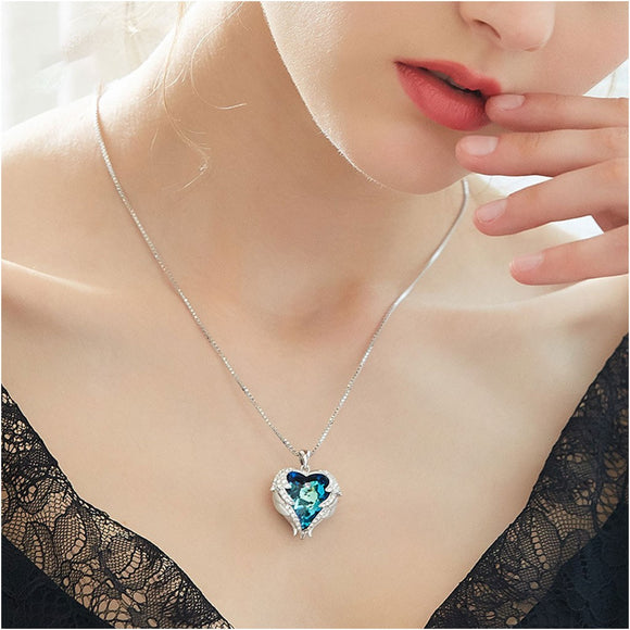 Women Necklace Heart Pendant Necklace Flat Chain Choker Stylish Necklace Elegant Chain Necklace