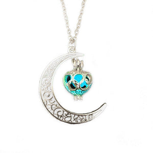 Moon Pendant Necklace Hollow Crescent Constellation Necklace Pendant Luminous Necklace