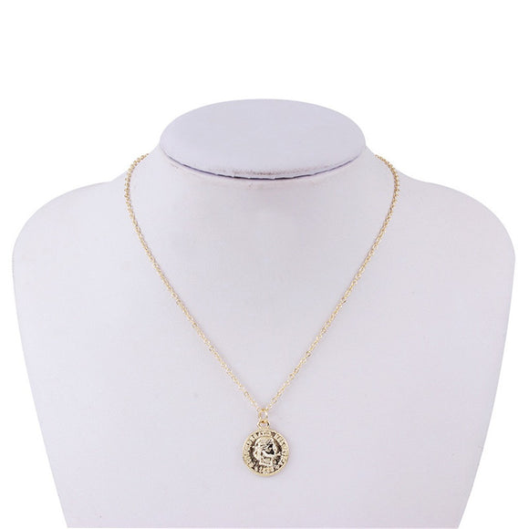 Choker Necklace Single Layer Coin Round Necklaces Flat Chain Choker Stylish Necklace Elegant Chain Necklace
