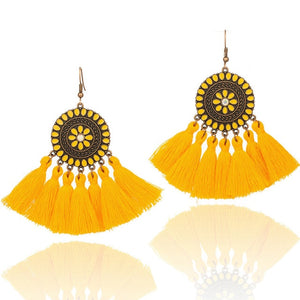 Colorful tassel earrings for women Vintage bohemian boho ethnic dream catch fringe dangle drop hanging earing Charm jewelry gift