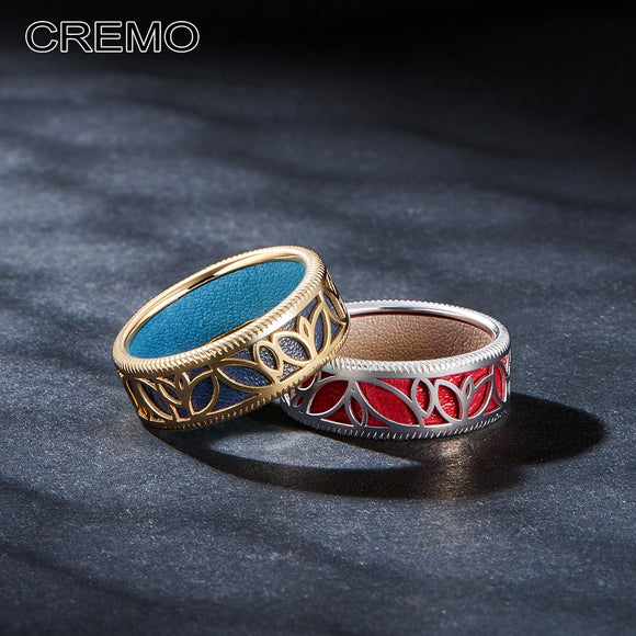 Cremo New Fashion Flower Rings for Women Jewelry Female Rings Interchangeable Leather Argent High Polished Cocktail Bague
