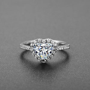 Fashion Crystal Silver Color Ring For Women Flower Love Heart Crown Finger Rings Cocktail Part Ring Jewelry Dropshipping