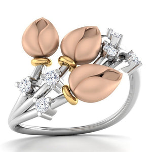 Cute Female Rose Flower Ring 925 Silver Wedding Ring Promise Love Engagement Rings For Women 2019 New Mother's Day Gifts