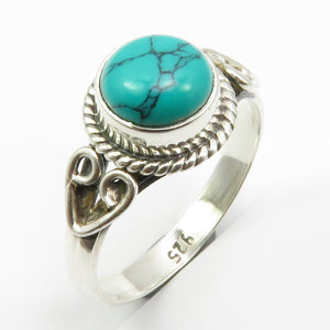 Pure Silver Turquoises December Birthstone Ring Size 6 New Gift Jewelry Unique Designed