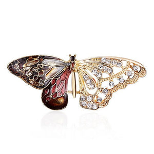 RE Beautiful Enamel Butterfly Insect Brooch Pins Animal Brooches for Women Decoration Jewelry Accessories For Women Girl O1735