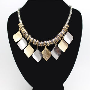 2019 Collier Femme Statement Bohemian Resin Beads Collares Necklaces & Pendants Gold Choker Colar for women jewelry Accessories