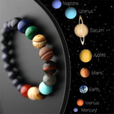 Lovers Eight Planets Natural Stone Bracelet Universe Yoga Chakra Galaxy Solar System Bracelets for Men or Women Jewelry Dropship