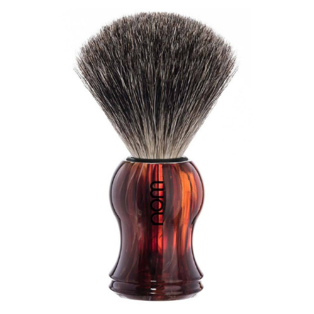 NOM Pure Badger Shaving Brush: Tortoiseshell - Living Industries