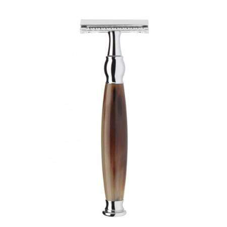 R42SR Sophist Safety Razor Closed Comb: Buffalo Horn - Living Industries