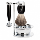 Vivo 4 Piece Shaving Kit: Black Resin - Living Industries