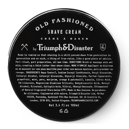 Old Fashioned Shave Cream 100ml - Living Industries