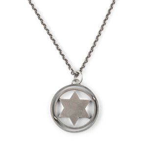 Spinning Star Of David Necklace