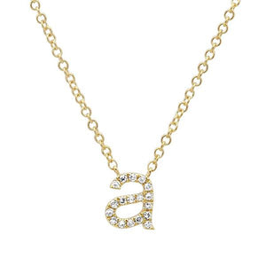 Lowercase Pave Initial Necklace - Millo Jewelry