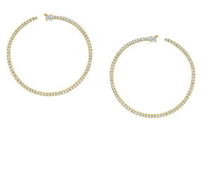 Pave Diamond Bardot Hoops