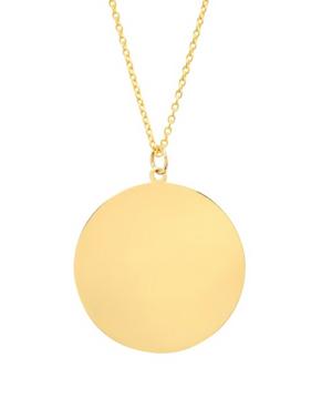 Jumbo Disc Necklace'