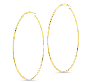 "Ruby Stella ""14K Rose Gold Large Hoop Earrings"""