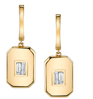 "Shay Fine Jewelry ""Essential Baguette Drop Earrings"""