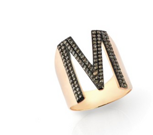 "Kismet By Milka ""M Ring Champagne Diamond"" - Millo Jewelry"