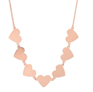 14K 7 Floating Heart Necklace - Millo Jewelry