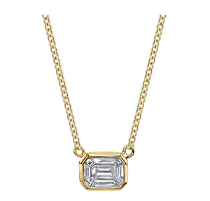 "Shay Fine Jewelry ""Emerald Cut Illusion Pendant"""