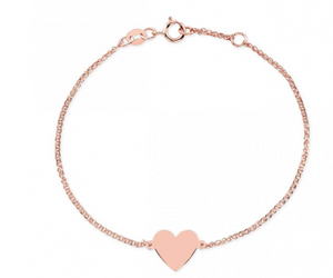 "Ruby Stella ""14K Gold Floating Heart Bracelet"""