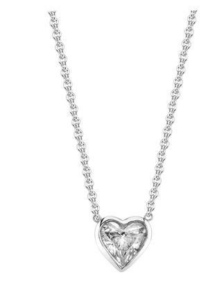 "Shay Fine Jewelry ""Diamond Solitaire Heart Necklace"""