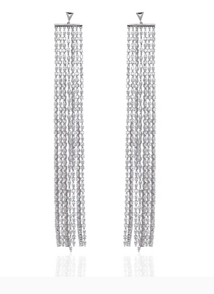 "Fallon Jewelry ""Monarch Sliver Marquis Waterfall Earrings """