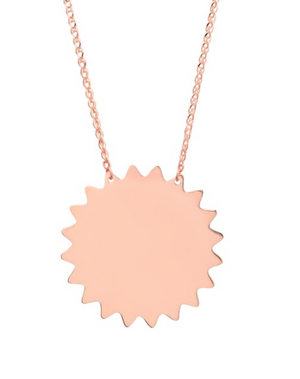 14K Sun Necklace