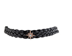 "Jacquie Aiche ""Opal Starburst Leather Choker"""