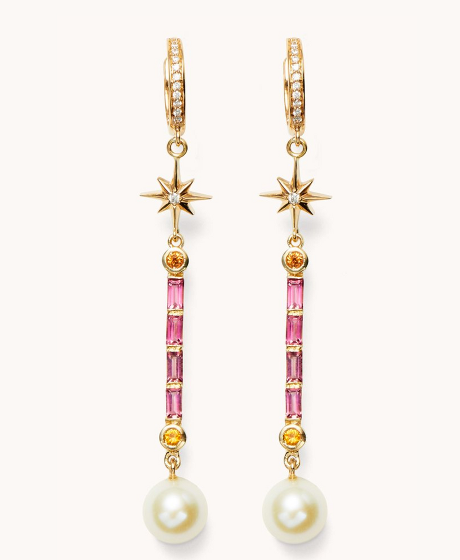 "Marlo Laz ""Pearl Wand Earrings"""