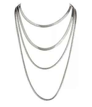 "Fallon Jewelry ""Layered Chains Necklace """