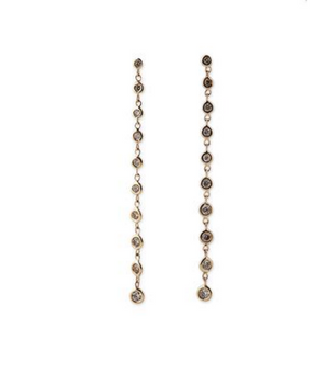 "Jacquie Aiche ""10 Diamond Drop Studs"""