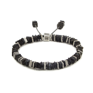 Square Disc Bead Bracelet