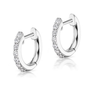 Pave Espionne Hoops (8mm) - Millo Jewelry