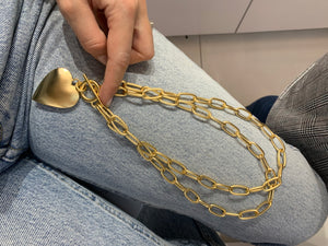 Yellow Heart Gold Necklace