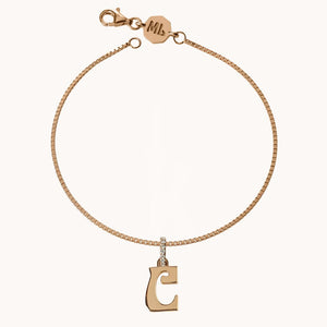 Letter Charm Diamond Bracelet - Millo Jewelry